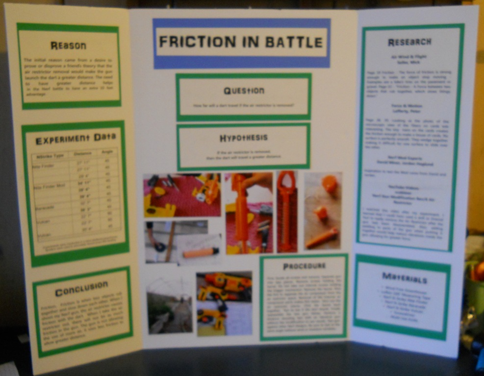 Friction Science Fair Project science fair ! friction in battle ...