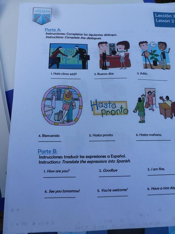 Spanish homework help kids
