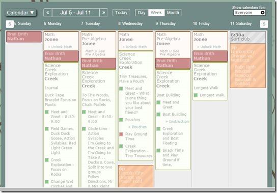 Calendar-Creek